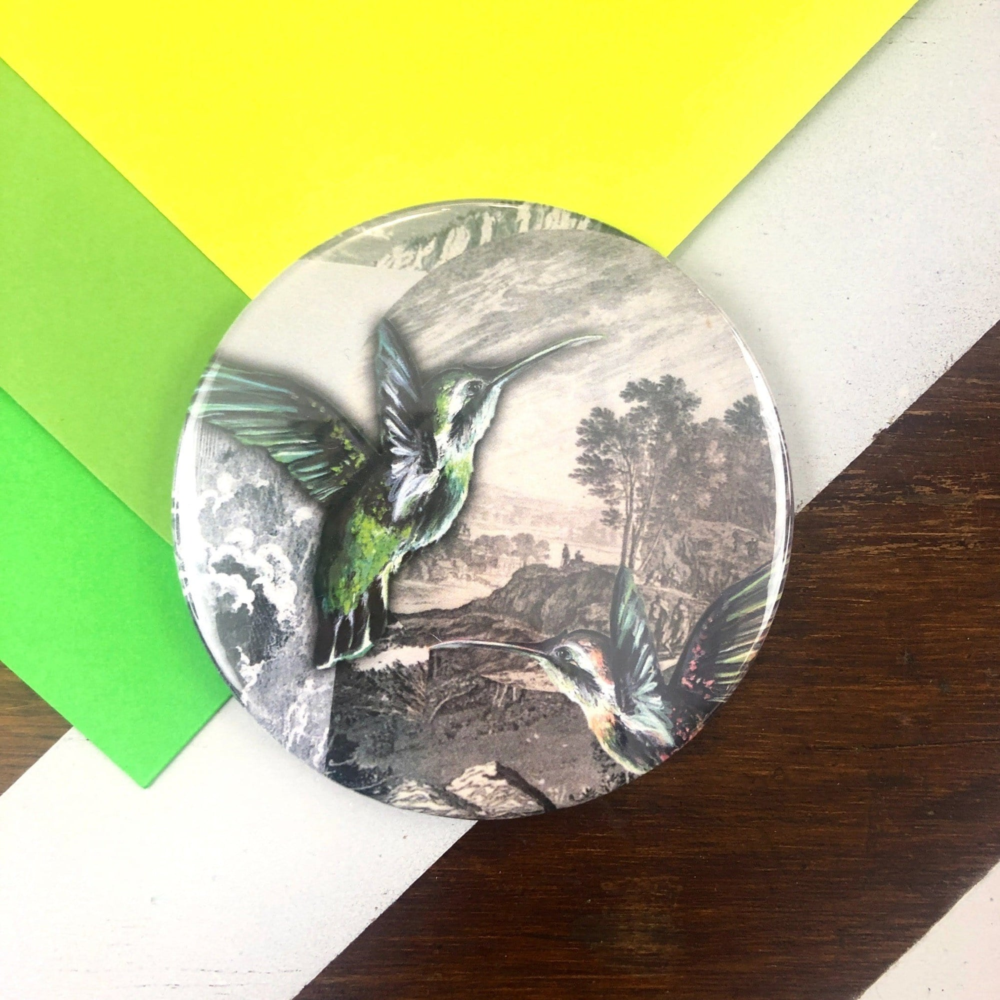 Hummingbird Pocket Mirror