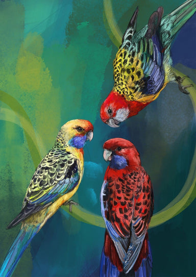 Rondel Of Rosellas Giclée Art Print