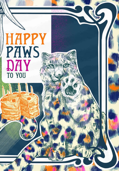 Nouveau Animaux - Happy Paws Day Greeting Card