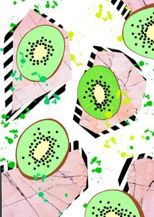 Kiwi Fruit Greeting Card