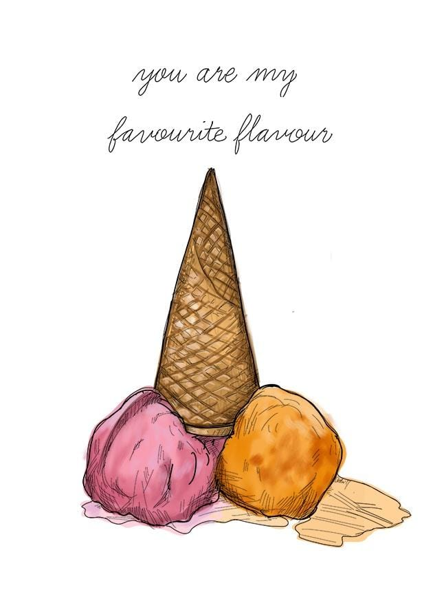 Favourite Flavour Greeting Card