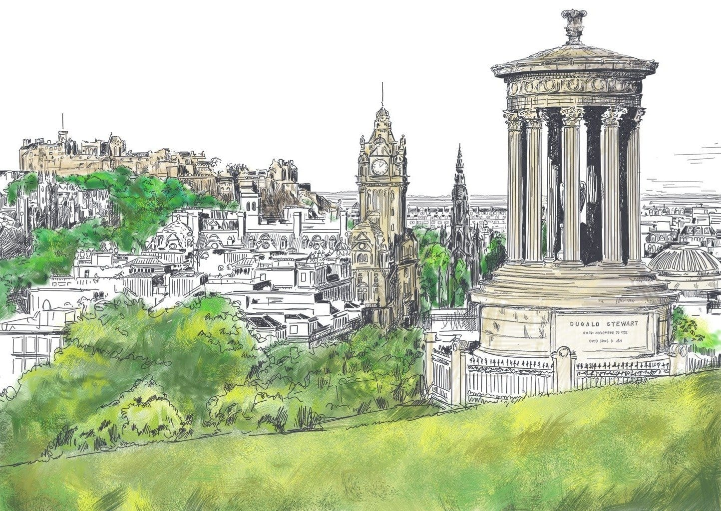 Calton Hill Edinburgh Greeting Card