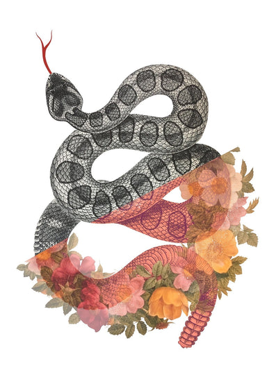 Wreath Snake Matte Art Print