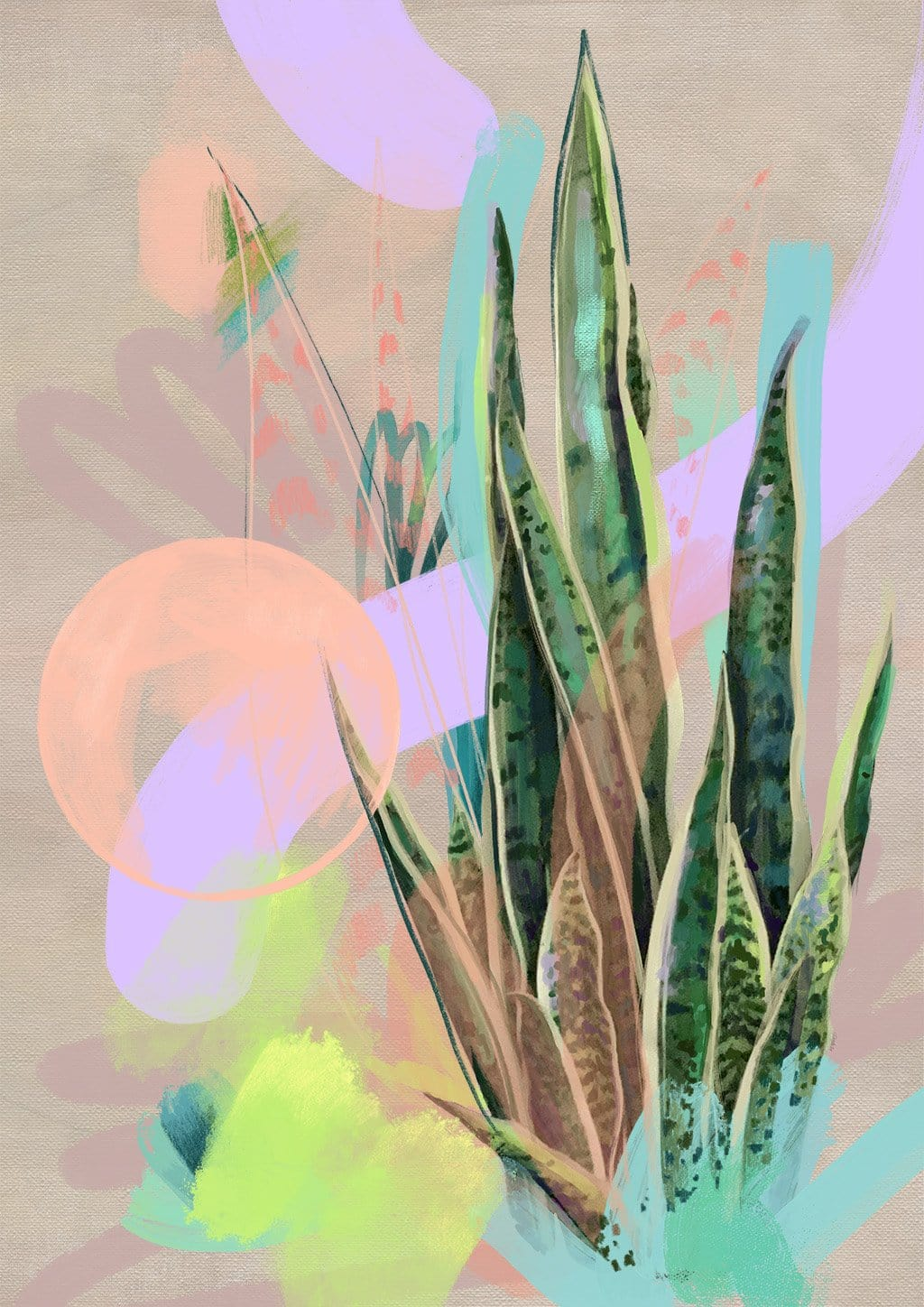 949 Tropic Pop  Abstract Wall Art