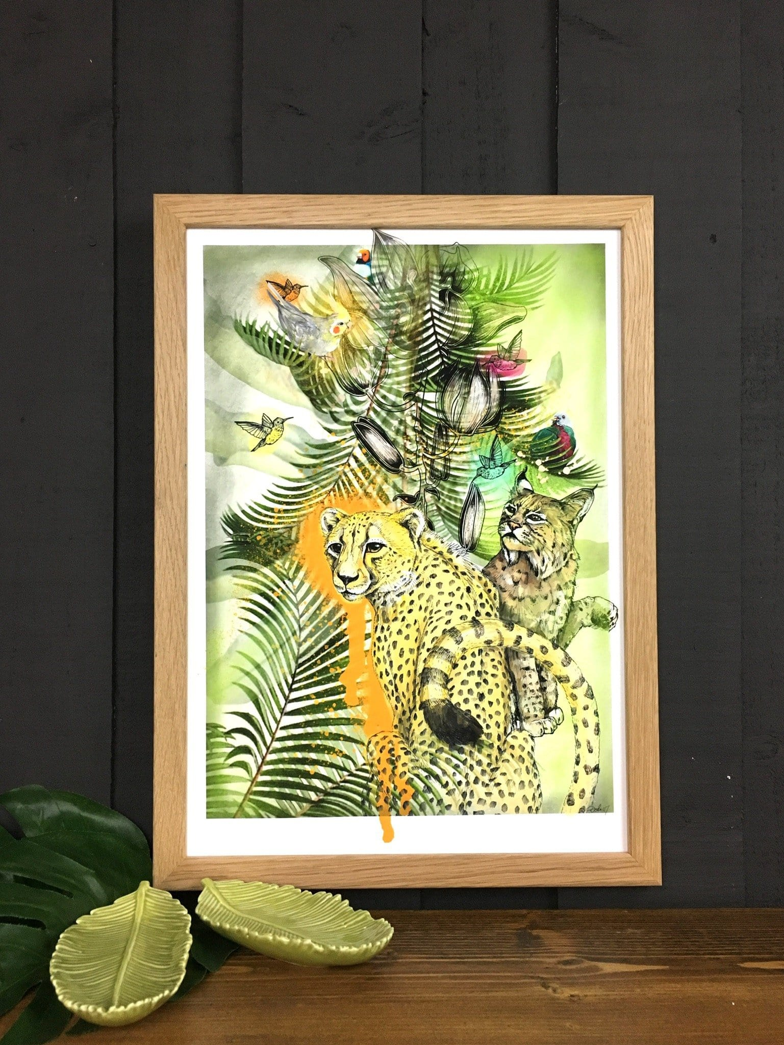 Big Cat Tropicana Matte Art Print