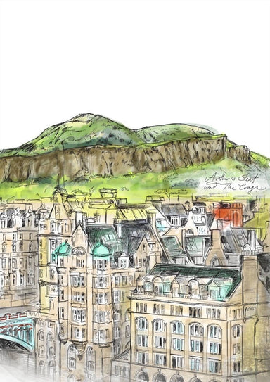 Arthurs Seat & The Crags Matte Art Print