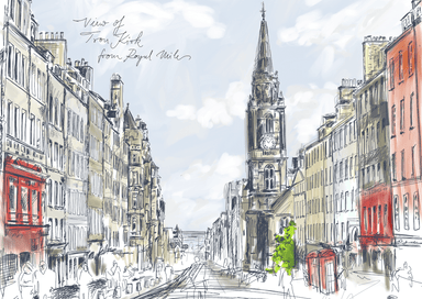 Tron Kirk Royal Mile Matte Art Print
