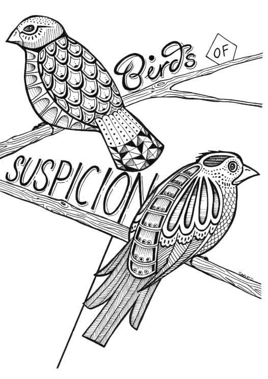 Birds of Suspicion Matte Art Print