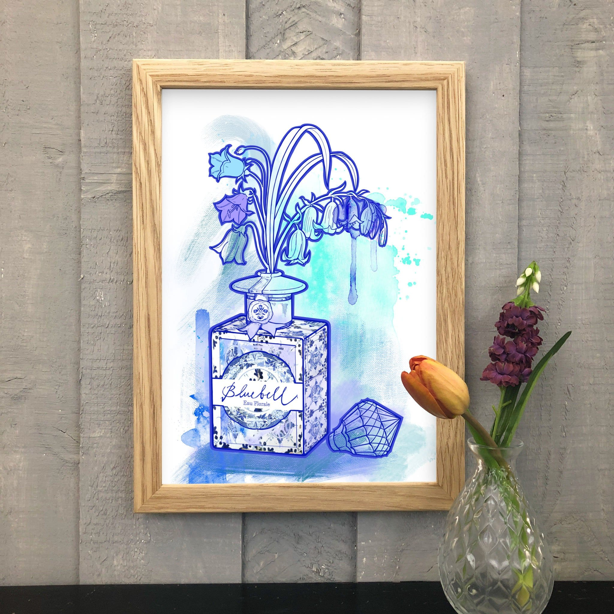 Bluebell Blue Matte Art Print