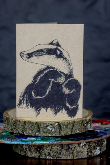 Busybody Badger Greeting Card