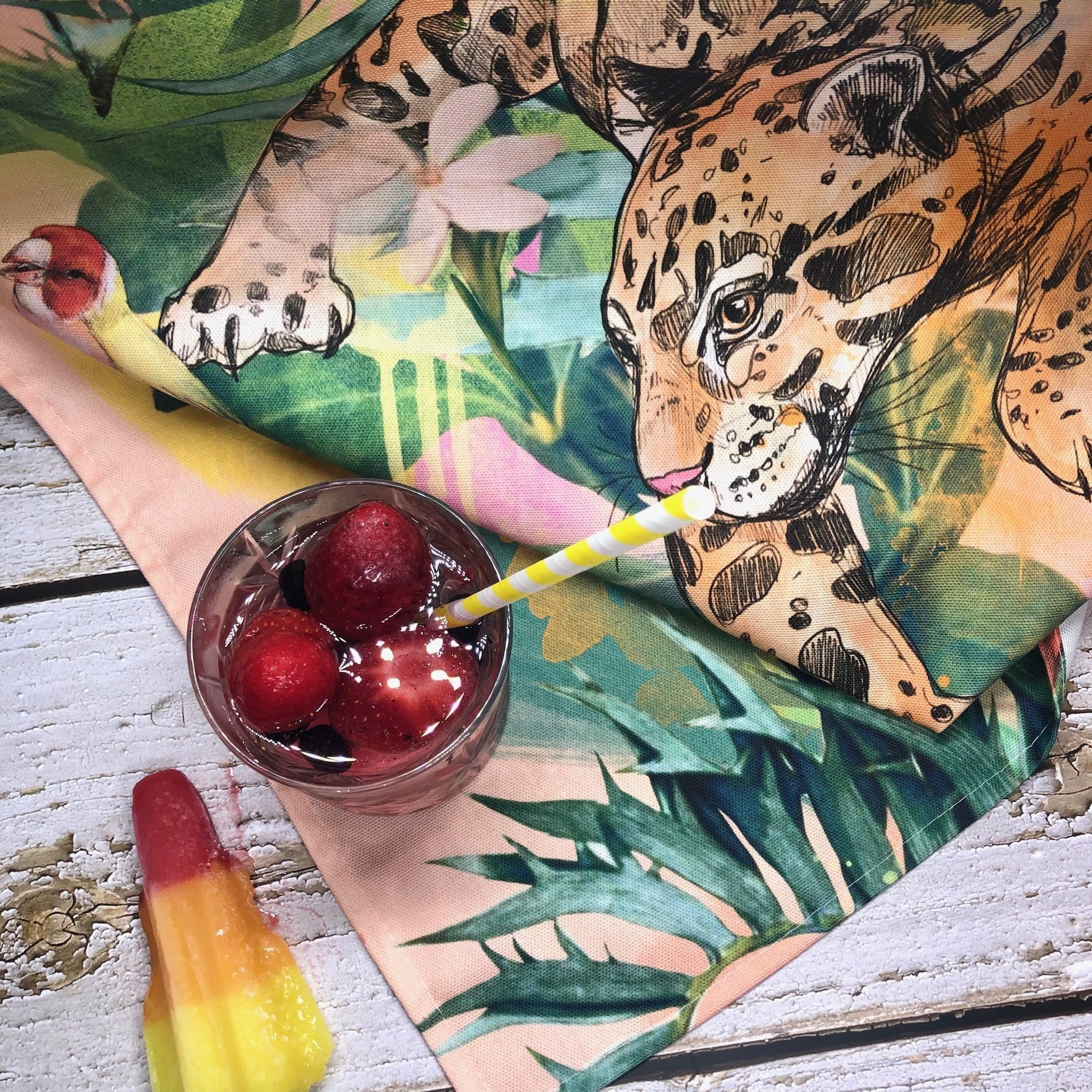 Dancing Leopard Tea Towel