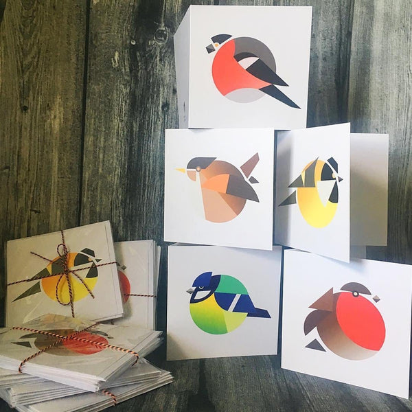 The Circle Bird Greeting Card Set