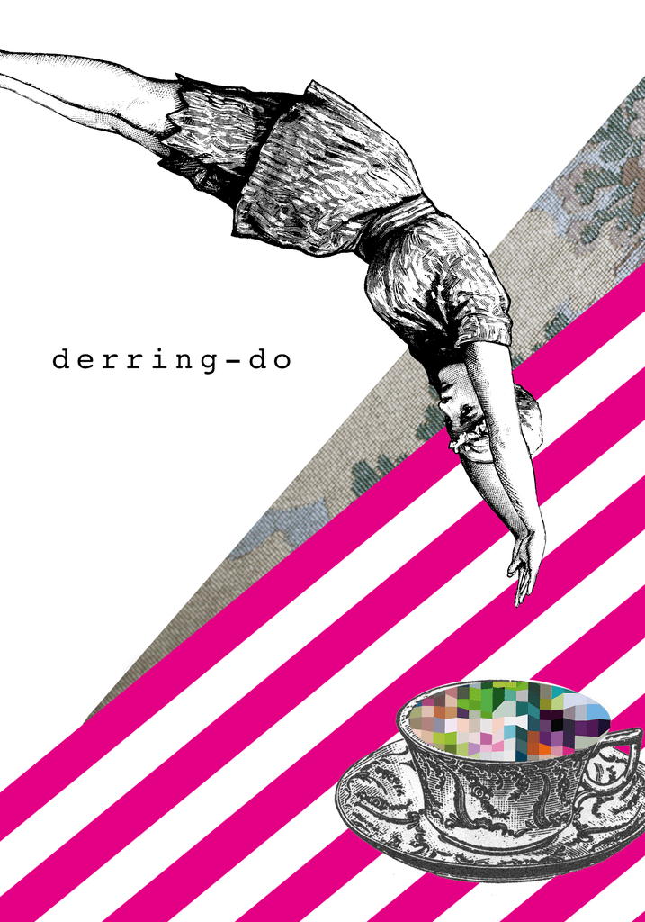 Derring-Do Greeting Card