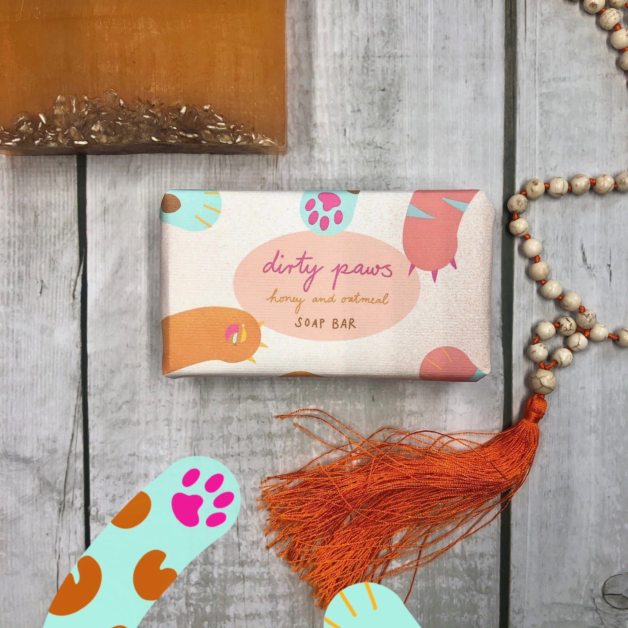 Dirty Paws Honey & Oatmeal Soap Bar