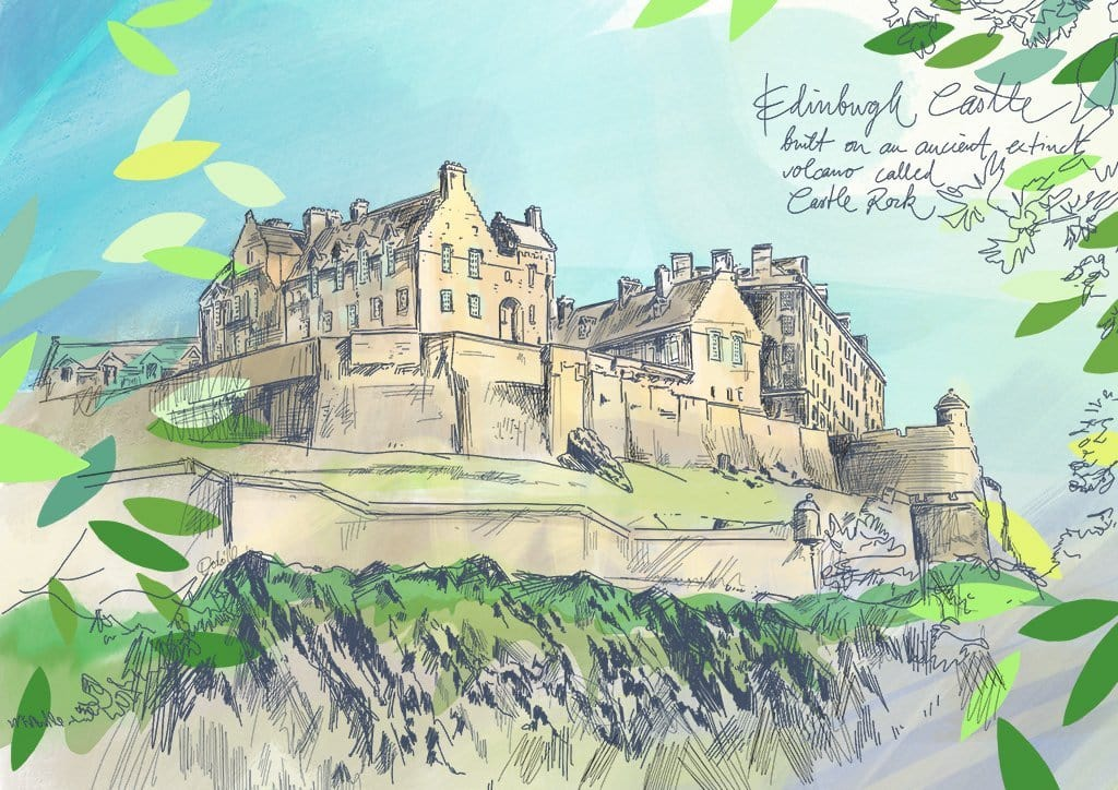 Edinburgh Castle Matte Art Print