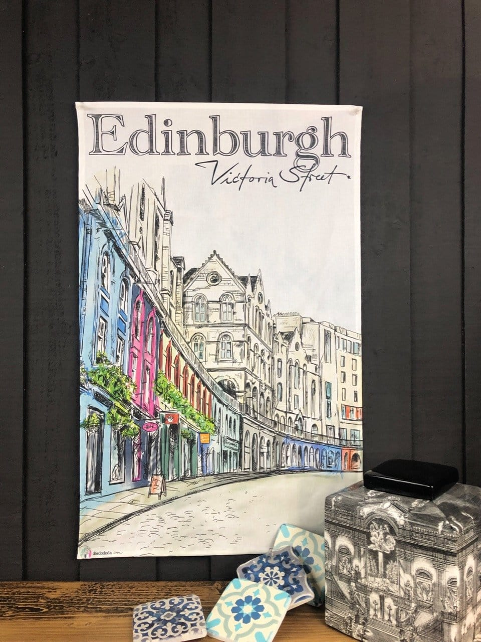 Edinburgh Victoria Street Tea Towel