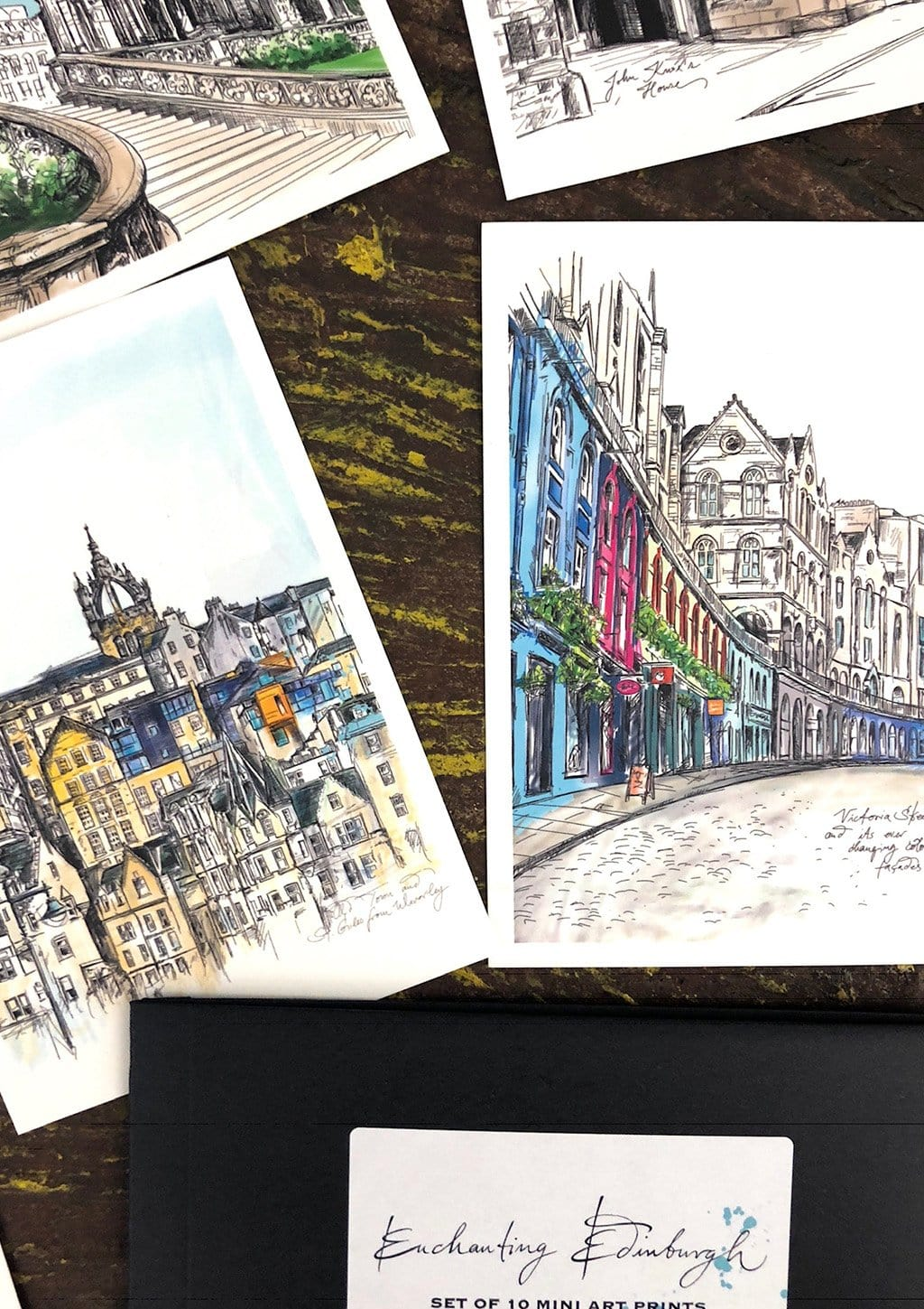 Enchanting Edinburgh Mini Art Print Set