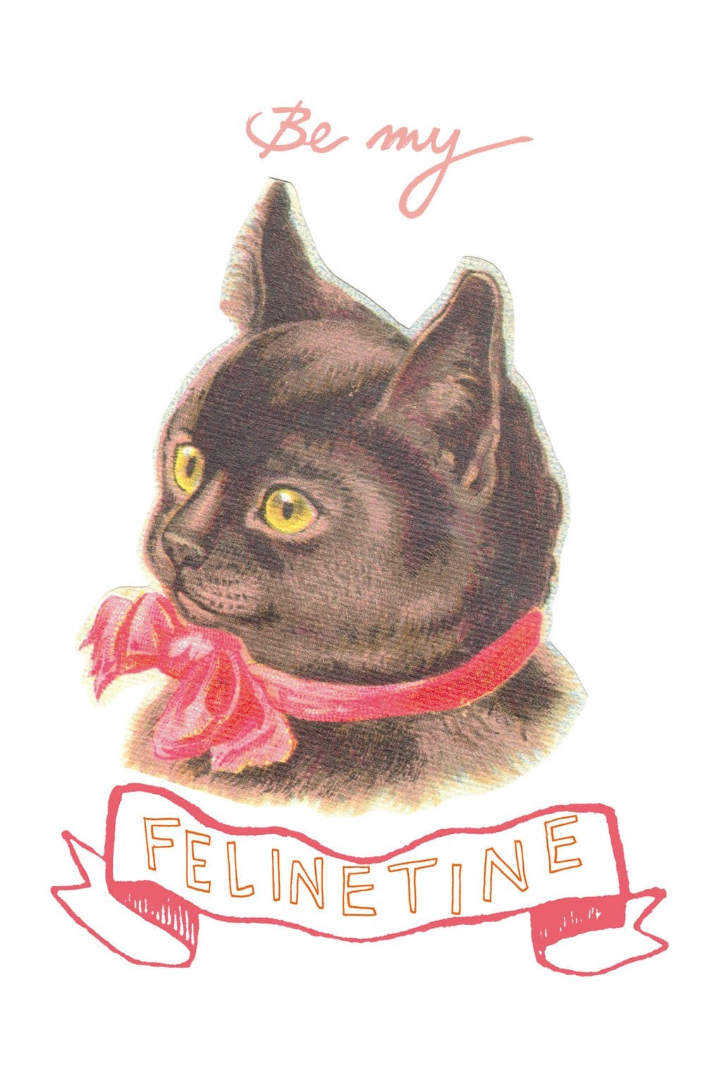 Felinetine Greeting Card