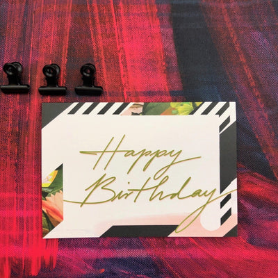 Occasional Stripes Happy Birthday Greeting Card