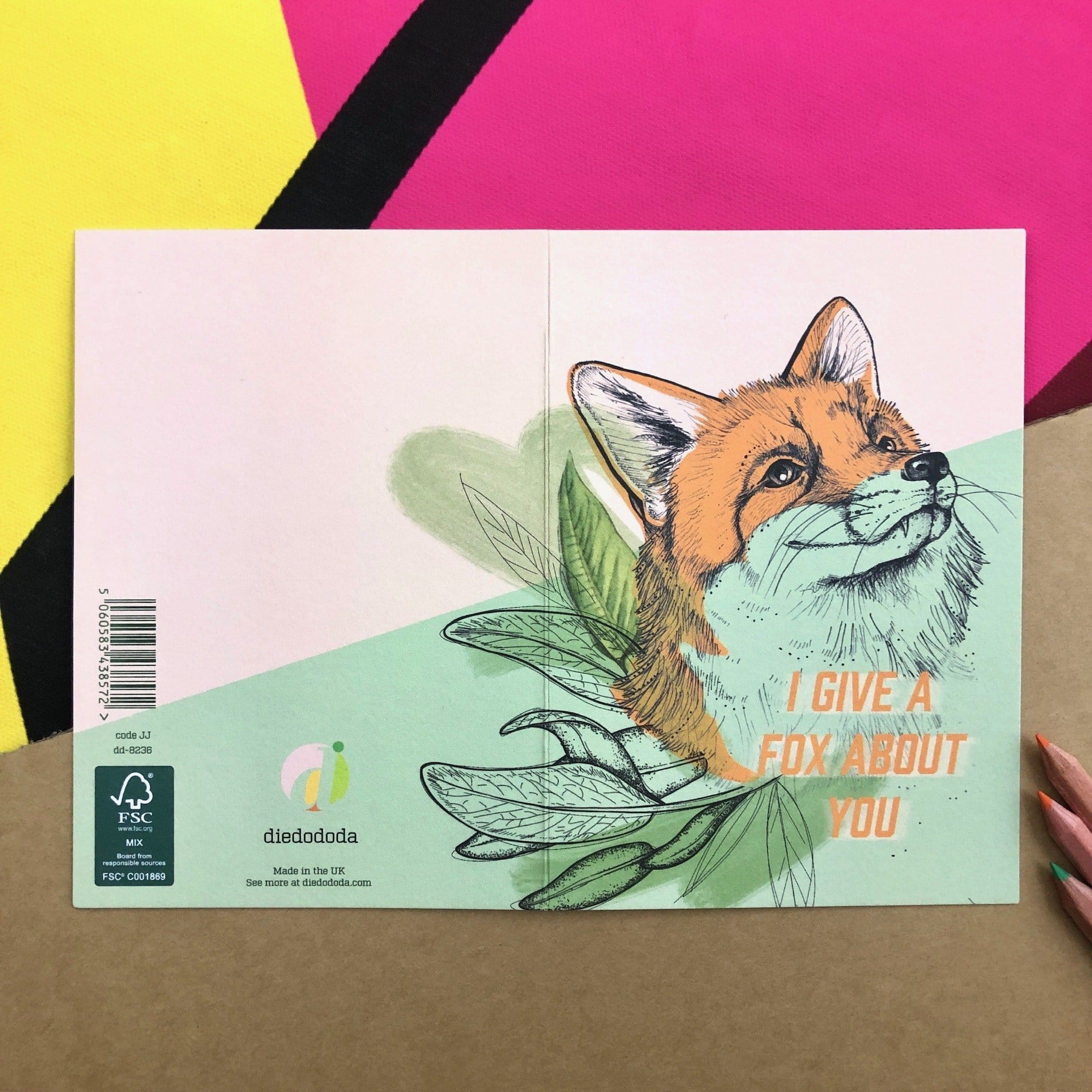 Fox About Greeting Card