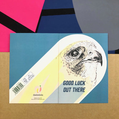 Good Luck Falcon Greeting Card