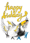 Happy Birdday Birthday Greeting Card