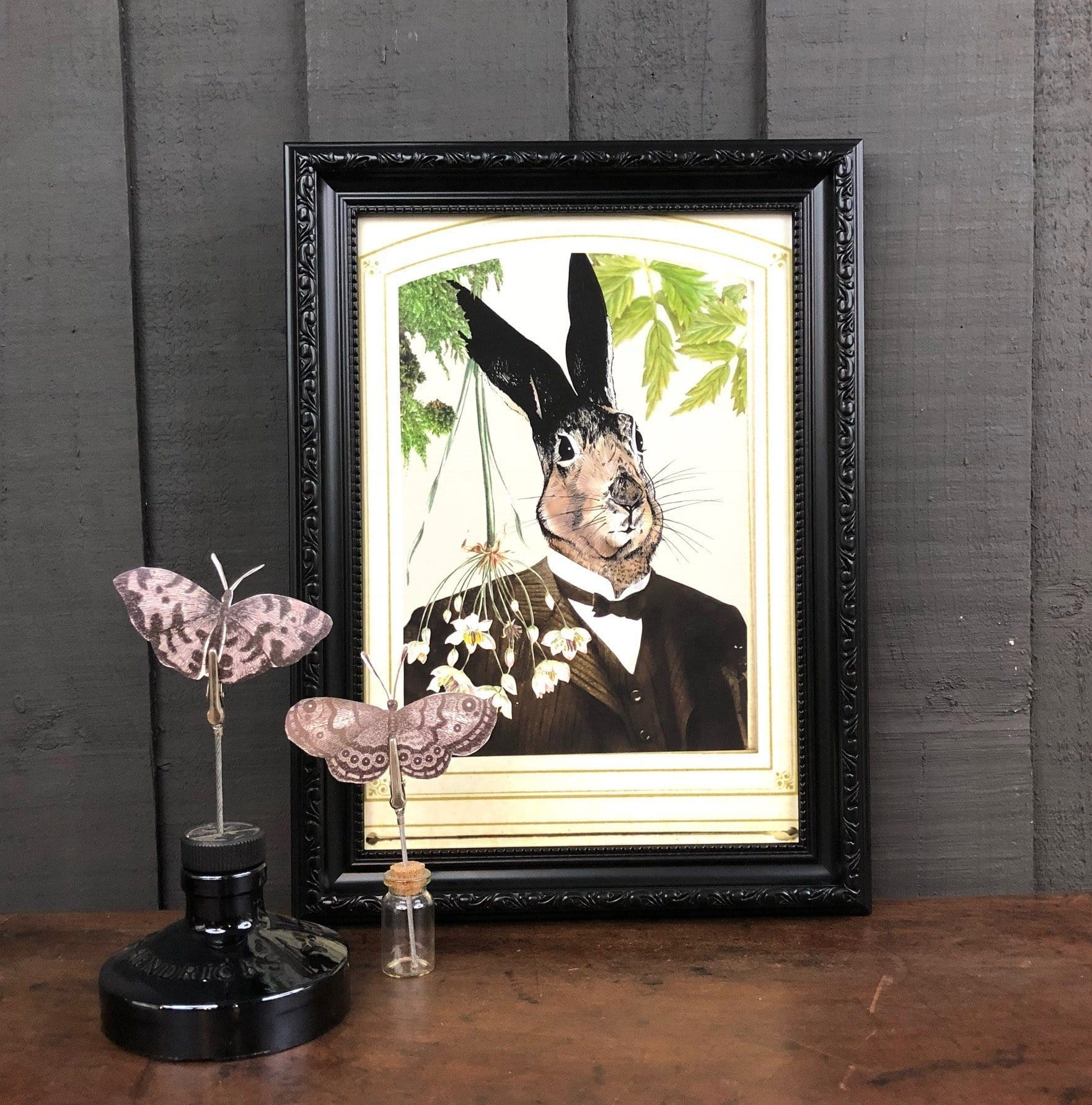 Hare In A Suit Matte Art Print