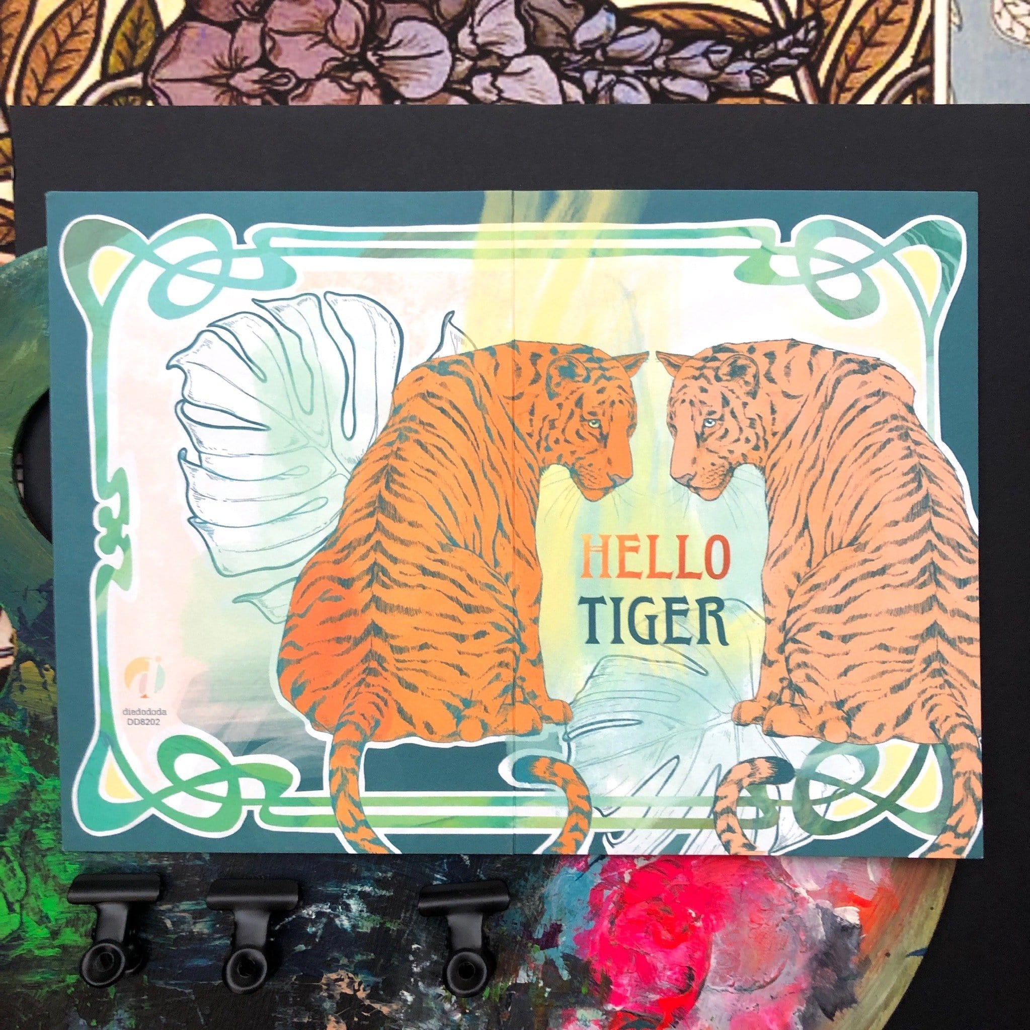 Hello Tiger Greeting Card