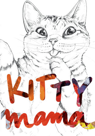 Kitty Mama Greeting Card