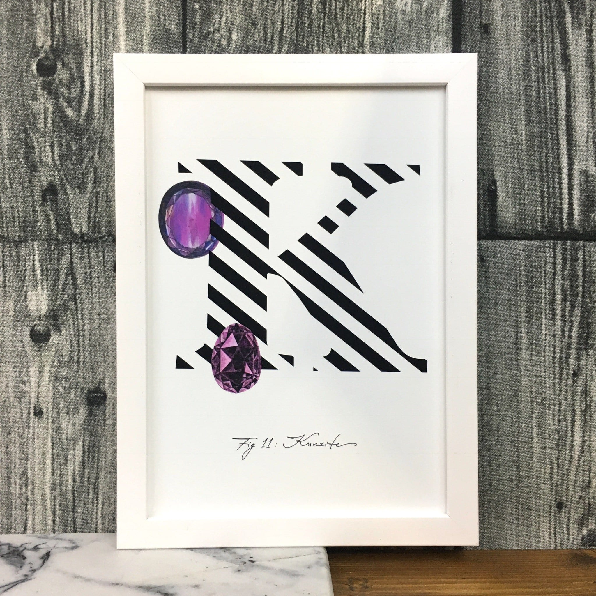 Gemstone Alphabet K Matte Art Print