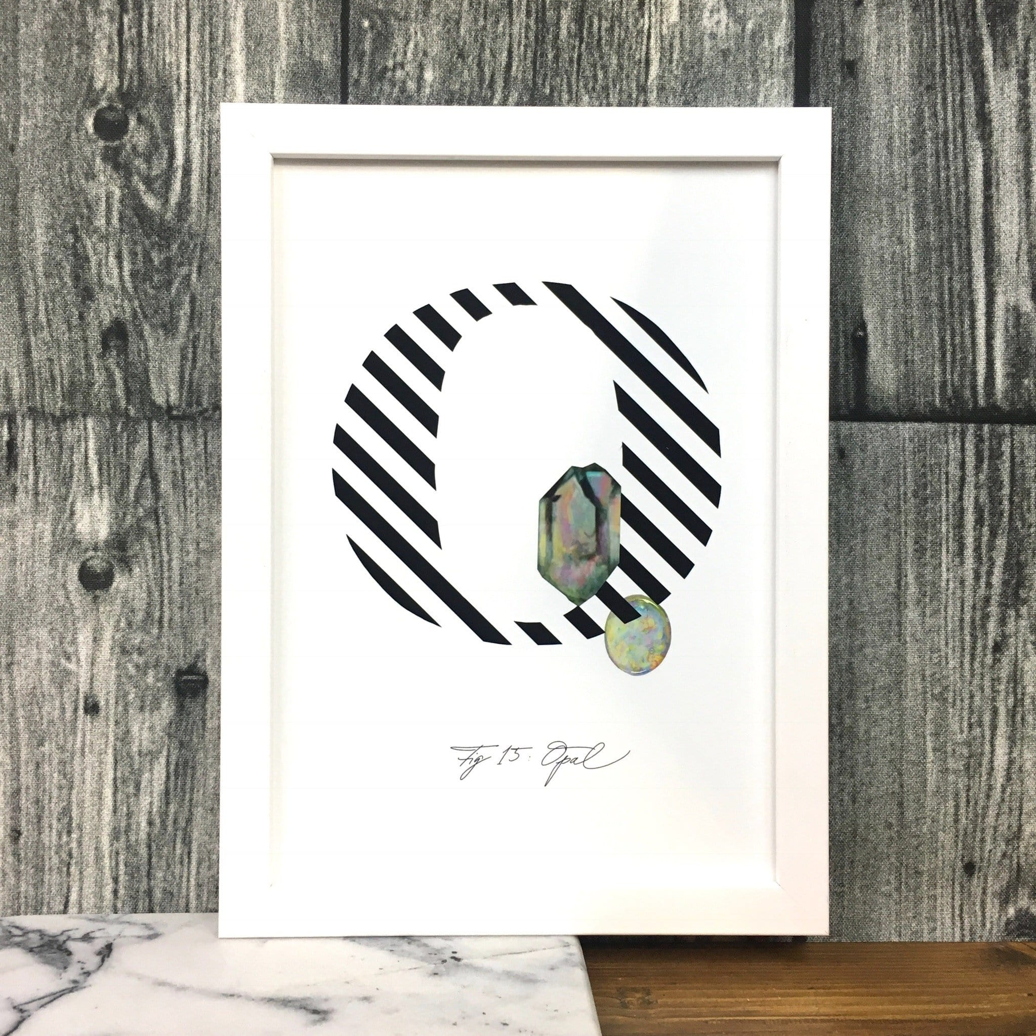 Gemstone Alphabet O Matte Art Print