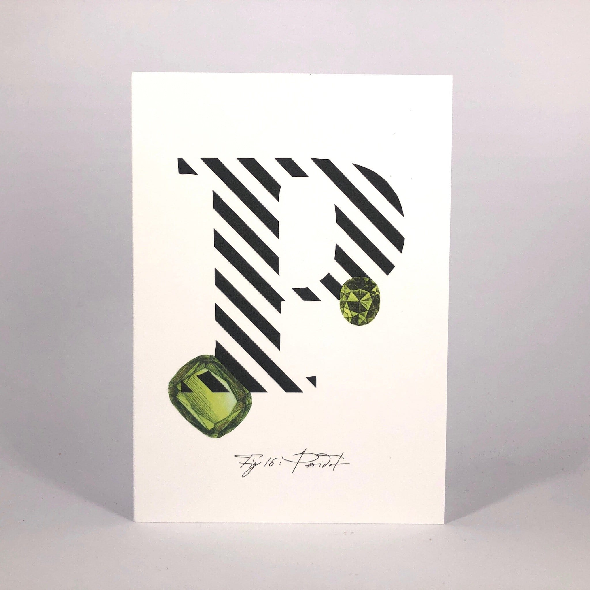Gemstone Alphabet P Greeting Card