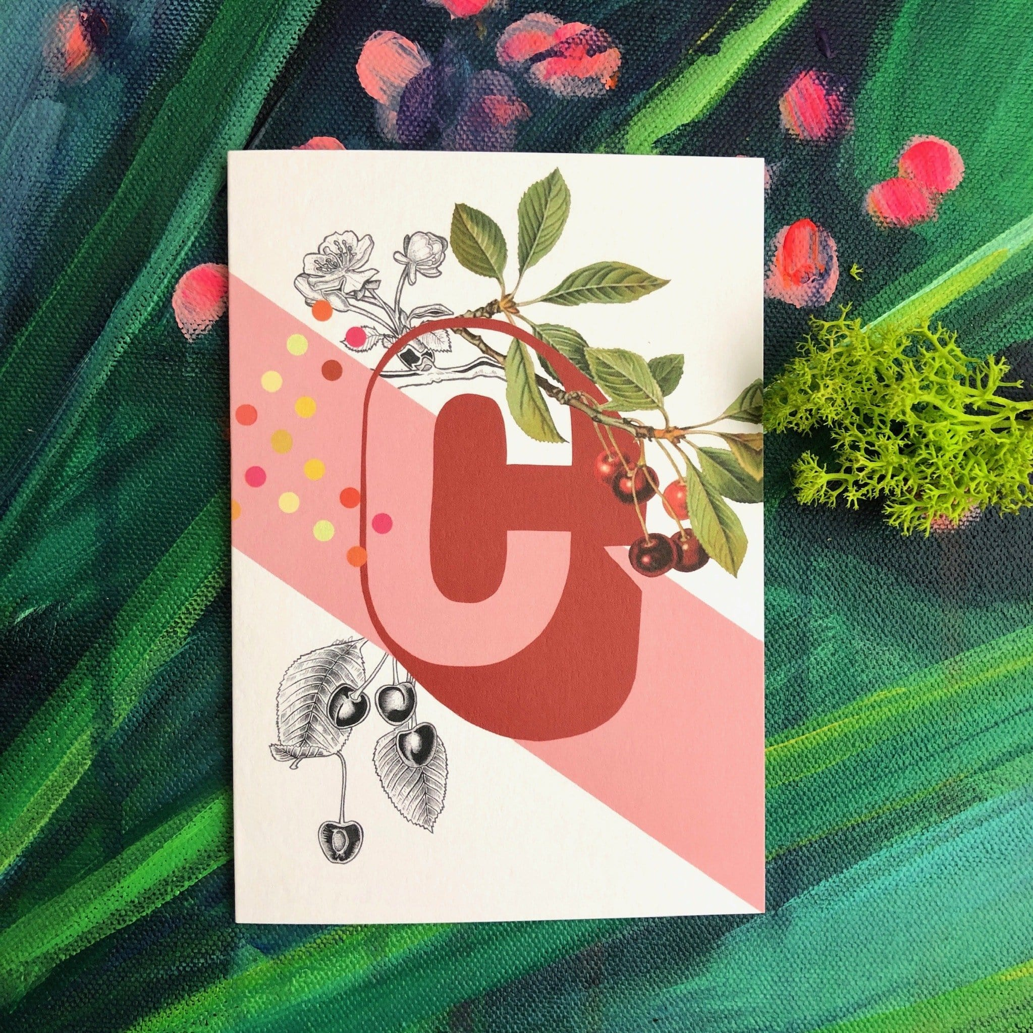 Botanical Alphabet C Greeting Card