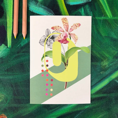 Botanical Alphabet O Greeting Card
