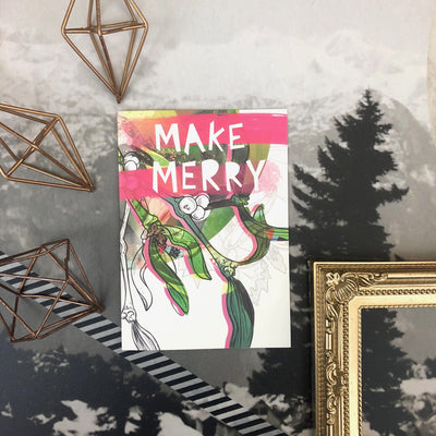 Front Of Make Merry Christmas Card