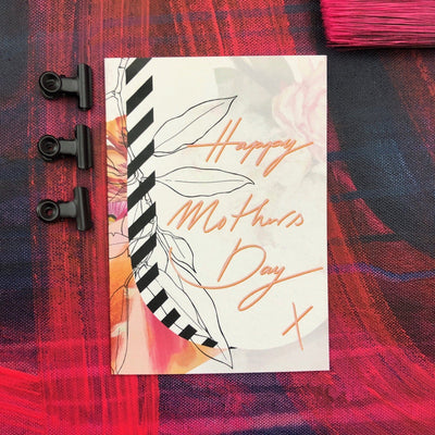 Occasional Stripes Happy Mothers Day Greeting Card