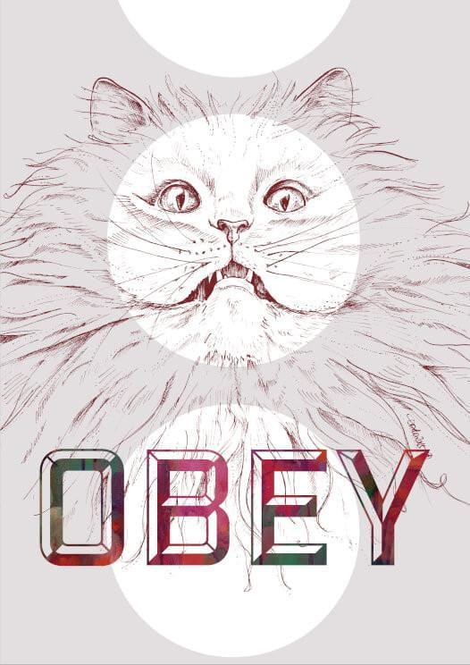 Obey Kitty Matte Art Print