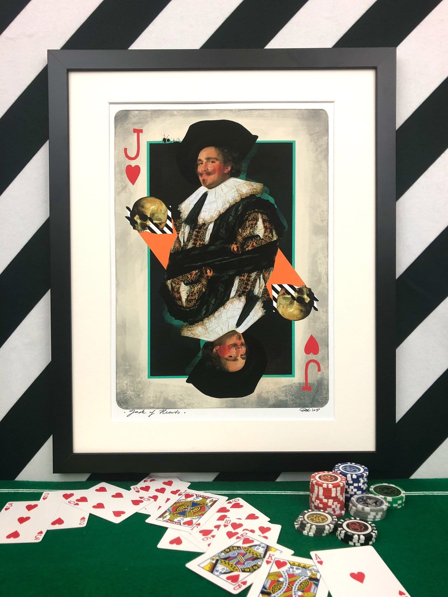 Jack Of Hearts Matte Art Print