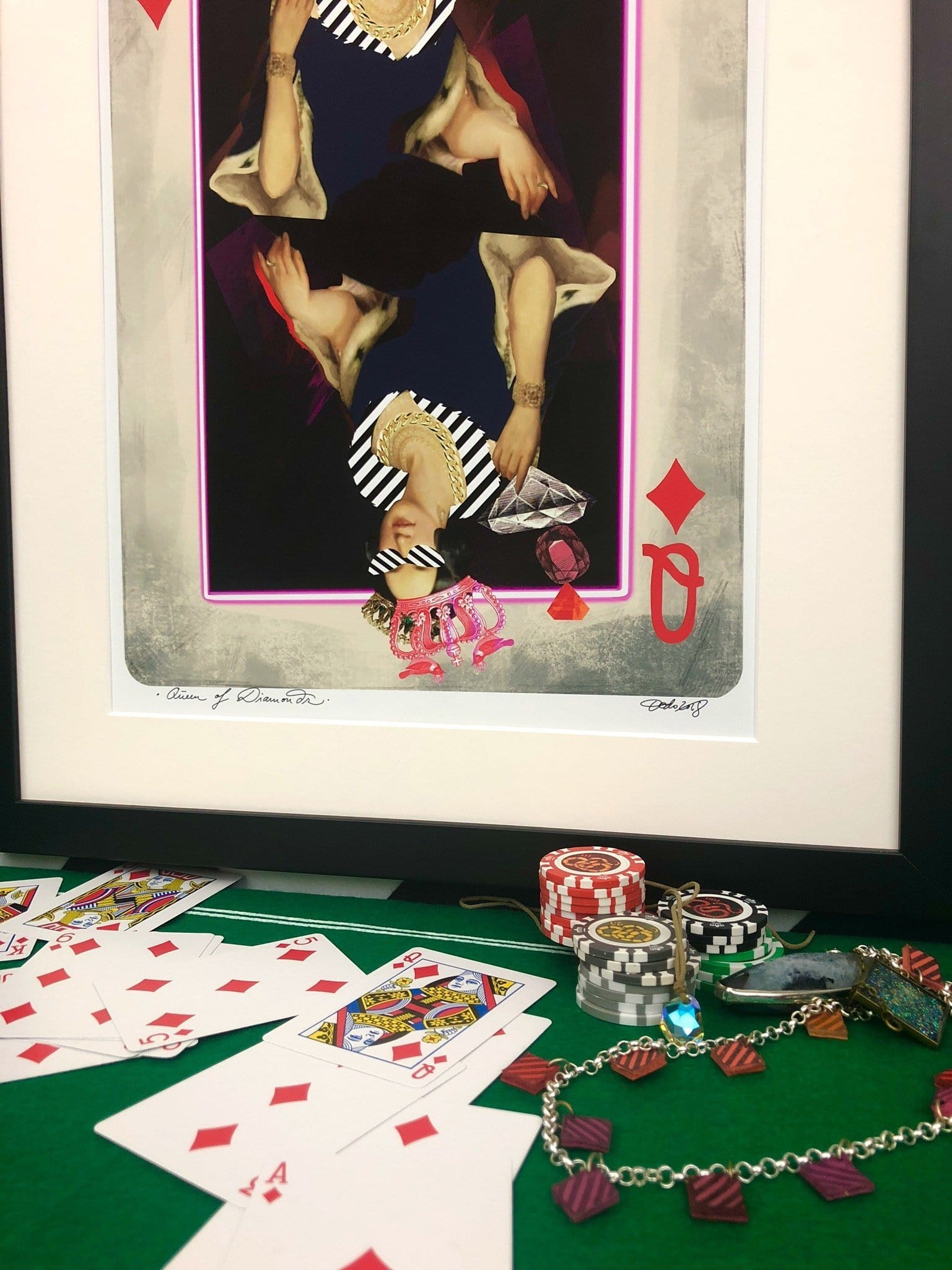 Queen Of Diamonds Matte Art Print