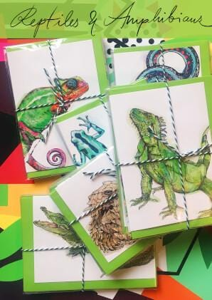 Reptiles & Amphibians Greeting Card Set
