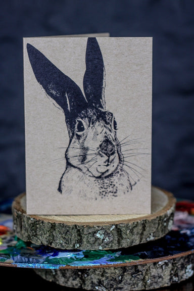 Skeptical Hare Greeting Card