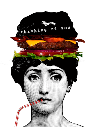 Thinking Of You Burger Greeting Card