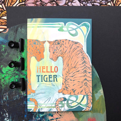 Nouveau Animaux - Hello Tiger Greeting Card