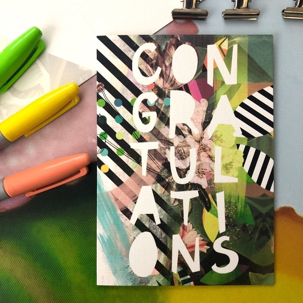 Motley Blooms - Congratulations Greeting Card
