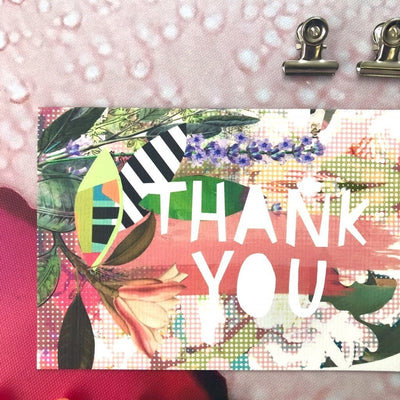 Motley Blooms - Thankyou Greeting Card