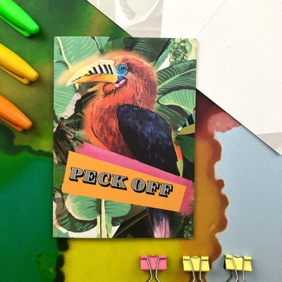 Peck Off Greeting Card