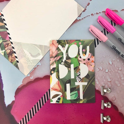 Motley Blooms - You Did It Greeting Card