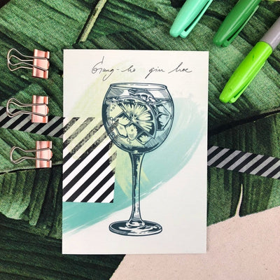 Gin Tonic Greeting Card