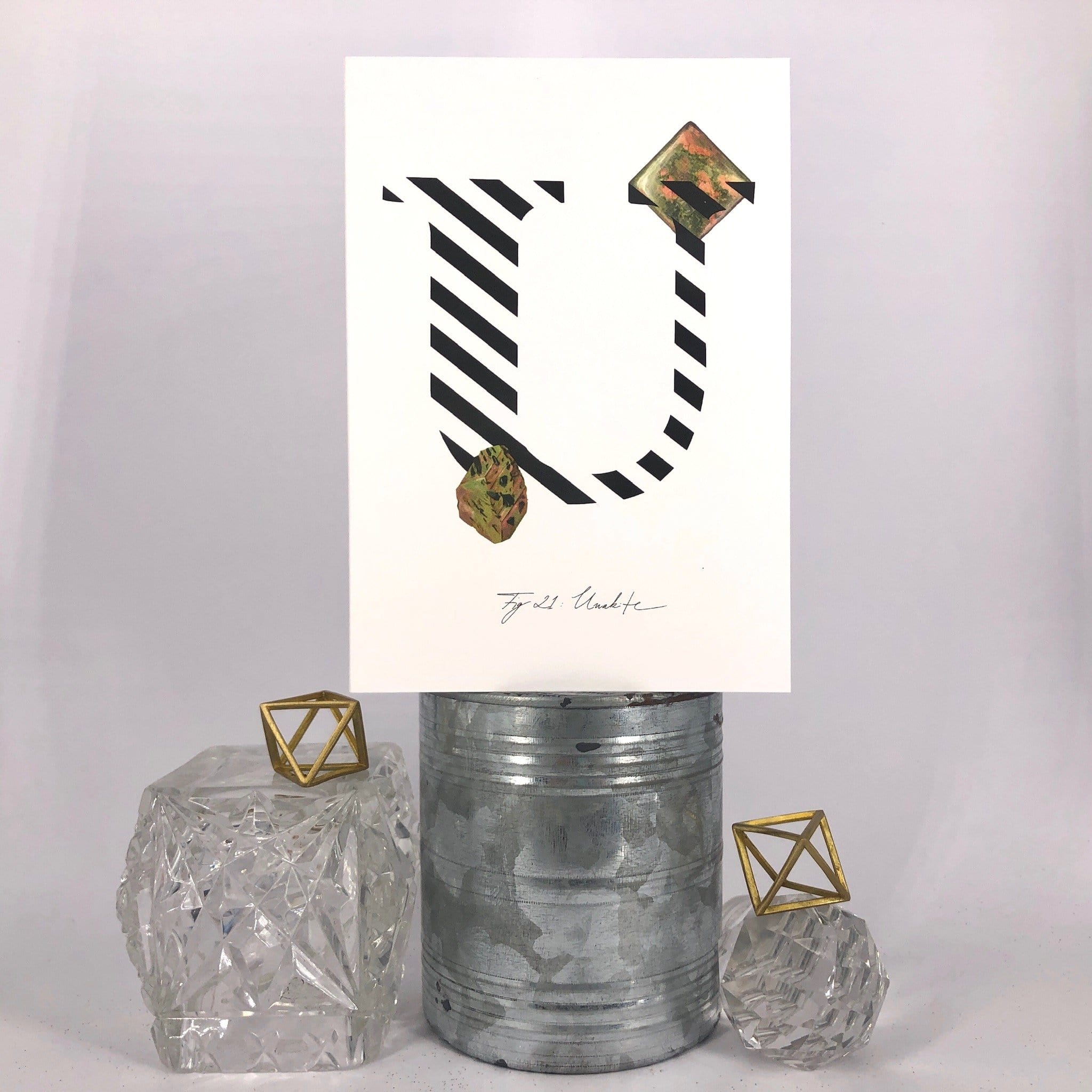 Gemstone Alphabet U Greeting Card