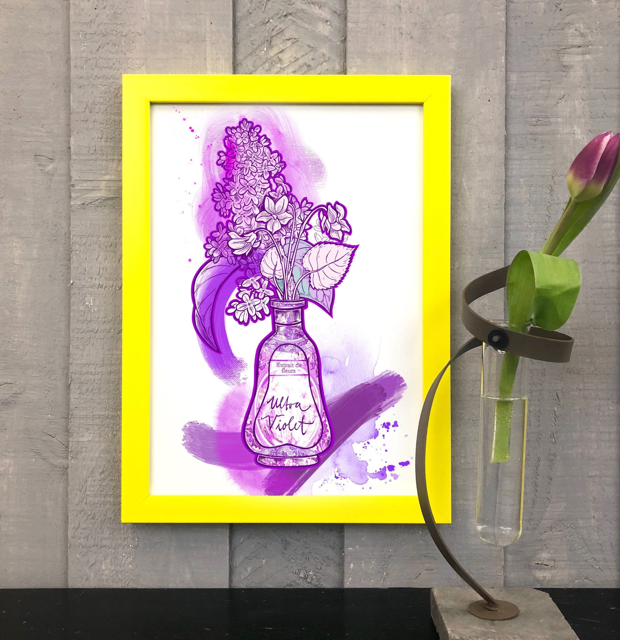 Bouquet Rose Matte Art Print